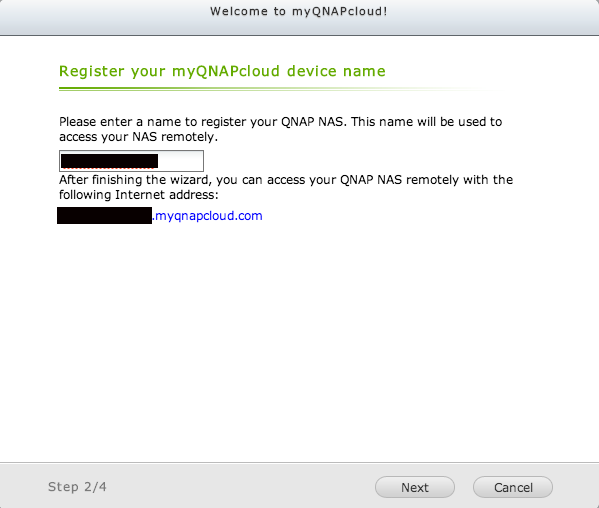 myQNAPcloud device name