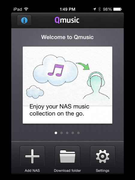 Qmusic by QNAP on iOS
