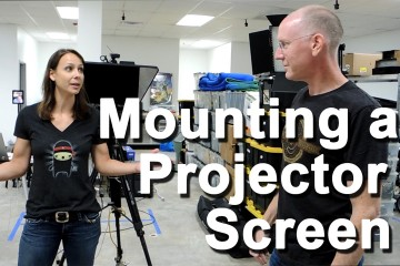 Elite Screens Projector Screen Mounting