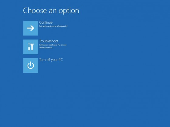 2 - Choose option screen