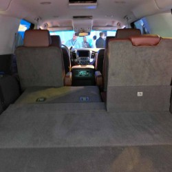2015 Chevy Suburban Split Folded Seat Interior