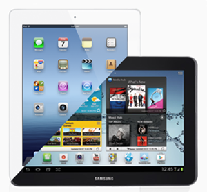 Apple and Samsung tablets