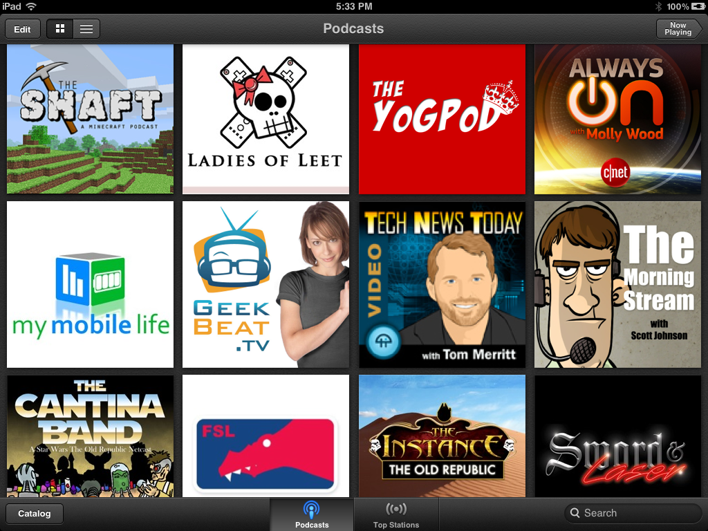 Apple Podcasts App Library