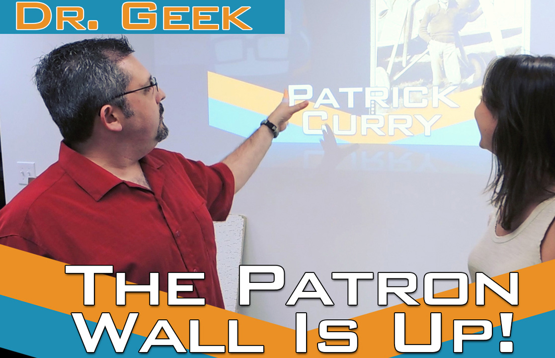 Geek House Patron Wall