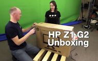 HP Z1 G2 Unboxing