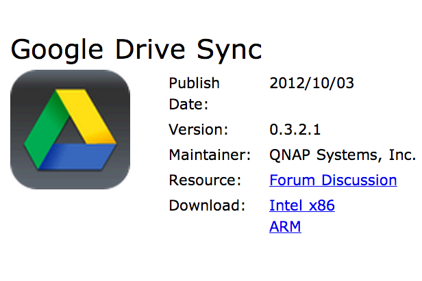 QNAP sync with Google Drive