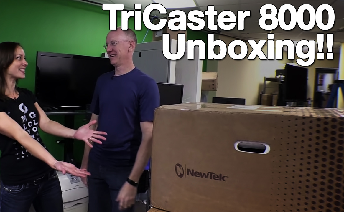 TriCaster 8000 unboxing