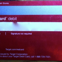 Target REDcard Back with Magnetic Strip