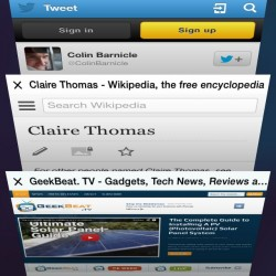iOS 7 Safari Tabs