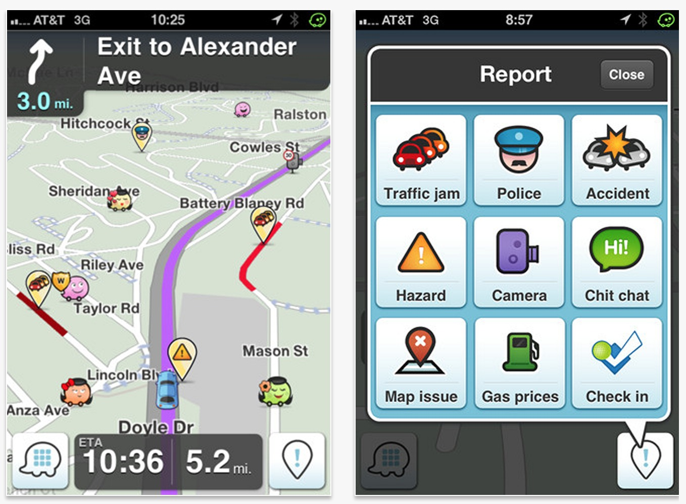 Waze is popular on both Android and iPhone