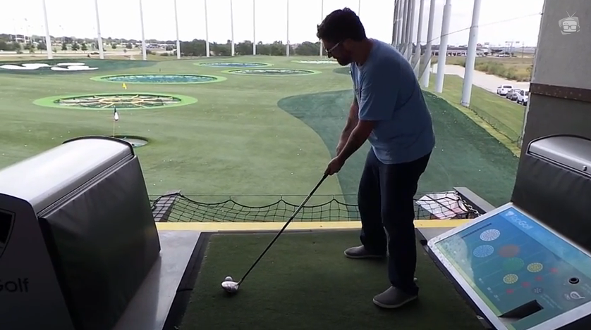 David Foster playing Top Golf