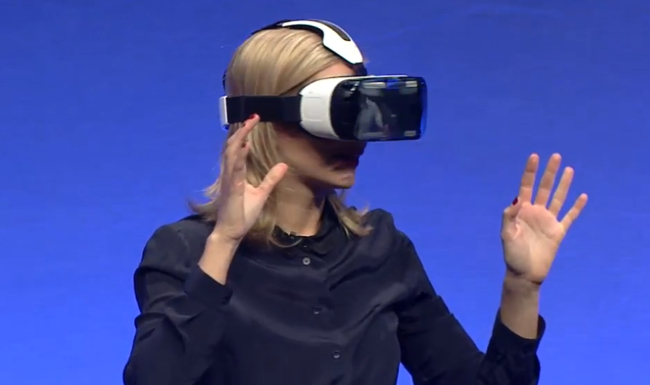Rachel Riley with Gear VR