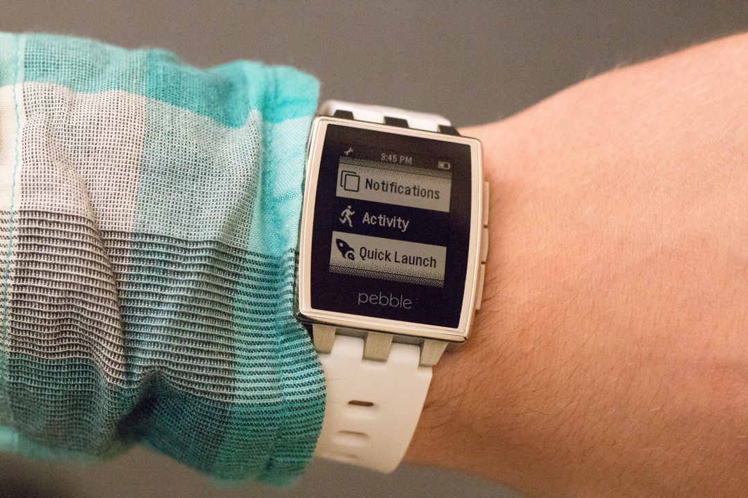 Pebble Smarwatch Activity Tracking