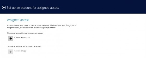 2 - Assigned access - choose account