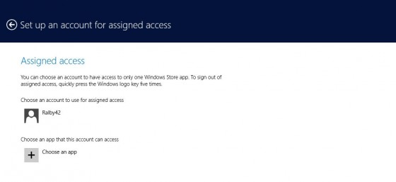 4 - Assigned access - choose app