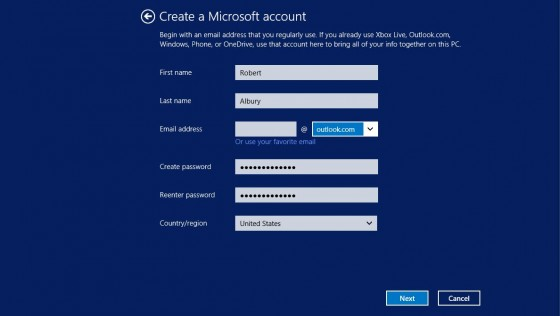 6 - Create Microsoft account 1