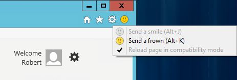 IE Edge button