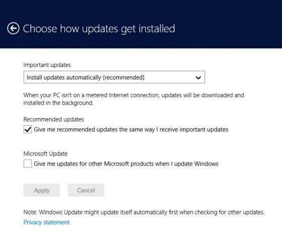 Choose how updates get installed
