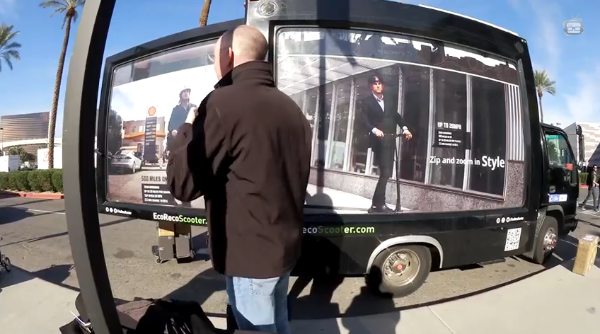 EcoReco truck at CES 2015 in Las Vegas