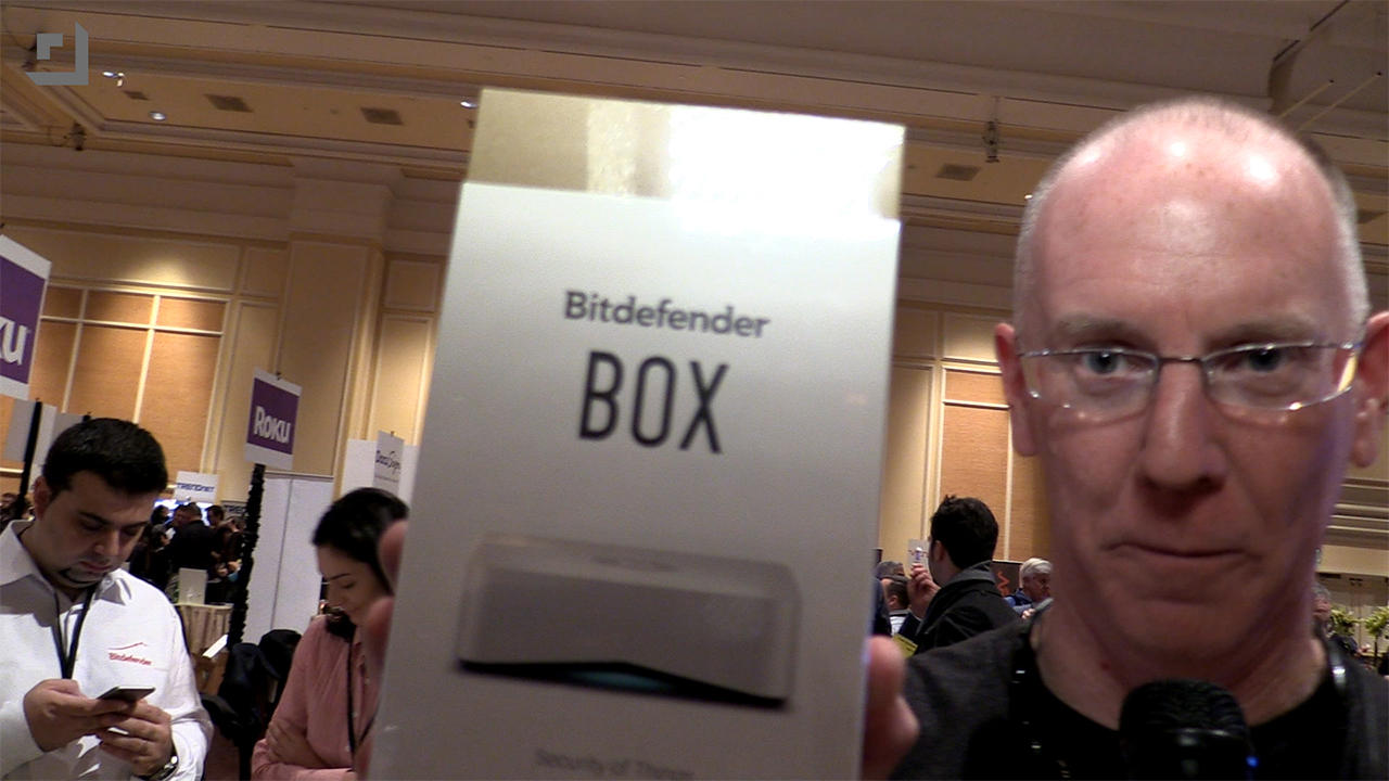 John P with Bitdefender Box at CES 2015 on Geek Beat Episode 954