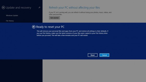 Reset before restarting PC