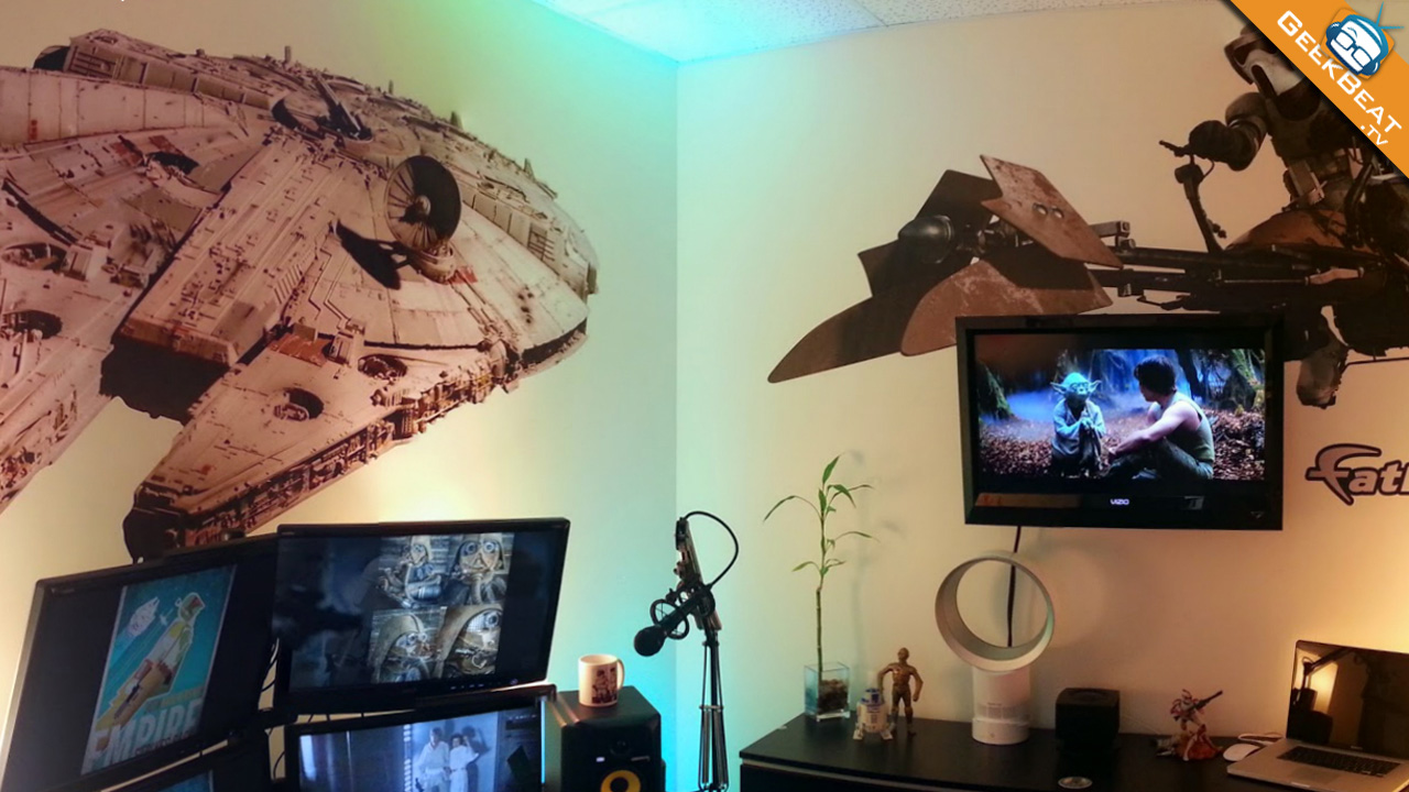 Star Wars Fathead Sticker Office Install