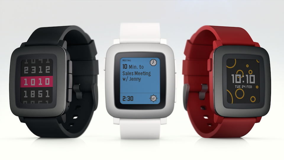 Pebble Time three colors