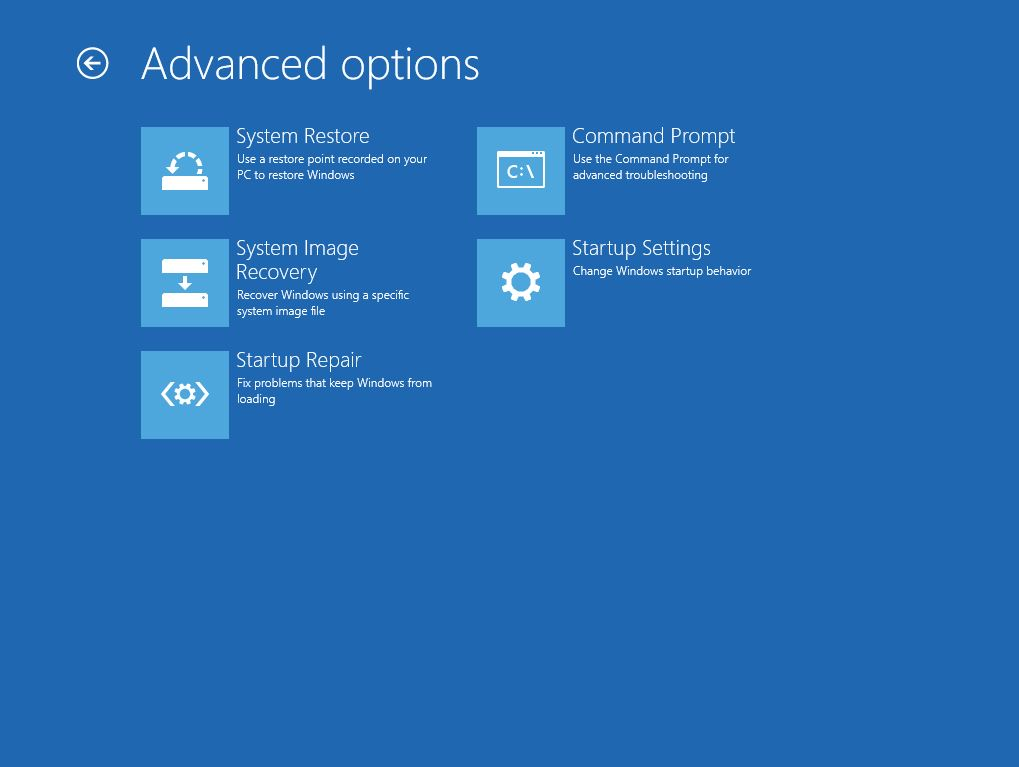 4 - Advanced options screen