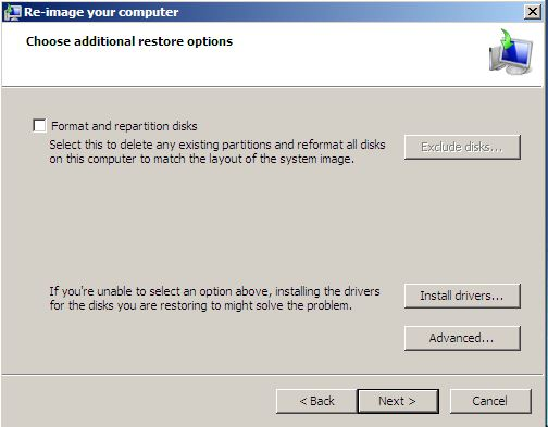 System Recovery-format and partition question