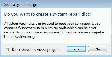 Win7 System repair disc question
