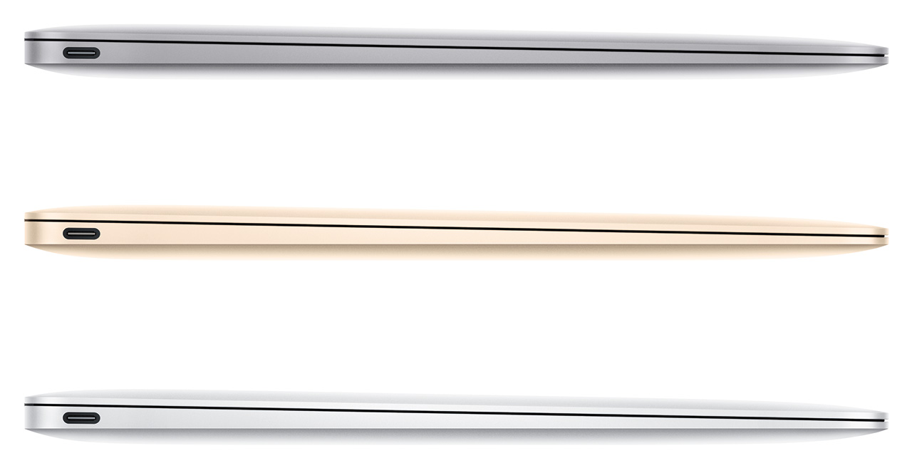 2015 MacBook gold, silver and space grey