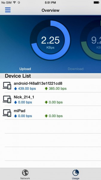 Mobile Bandwidth Monitoring