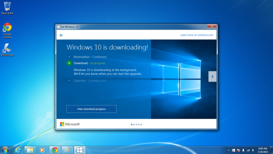 Getting Windows 10