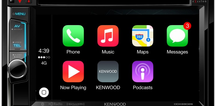 KENWOOD Announces Release of Two New Multimedia Receivers With Apple® CarPlay®