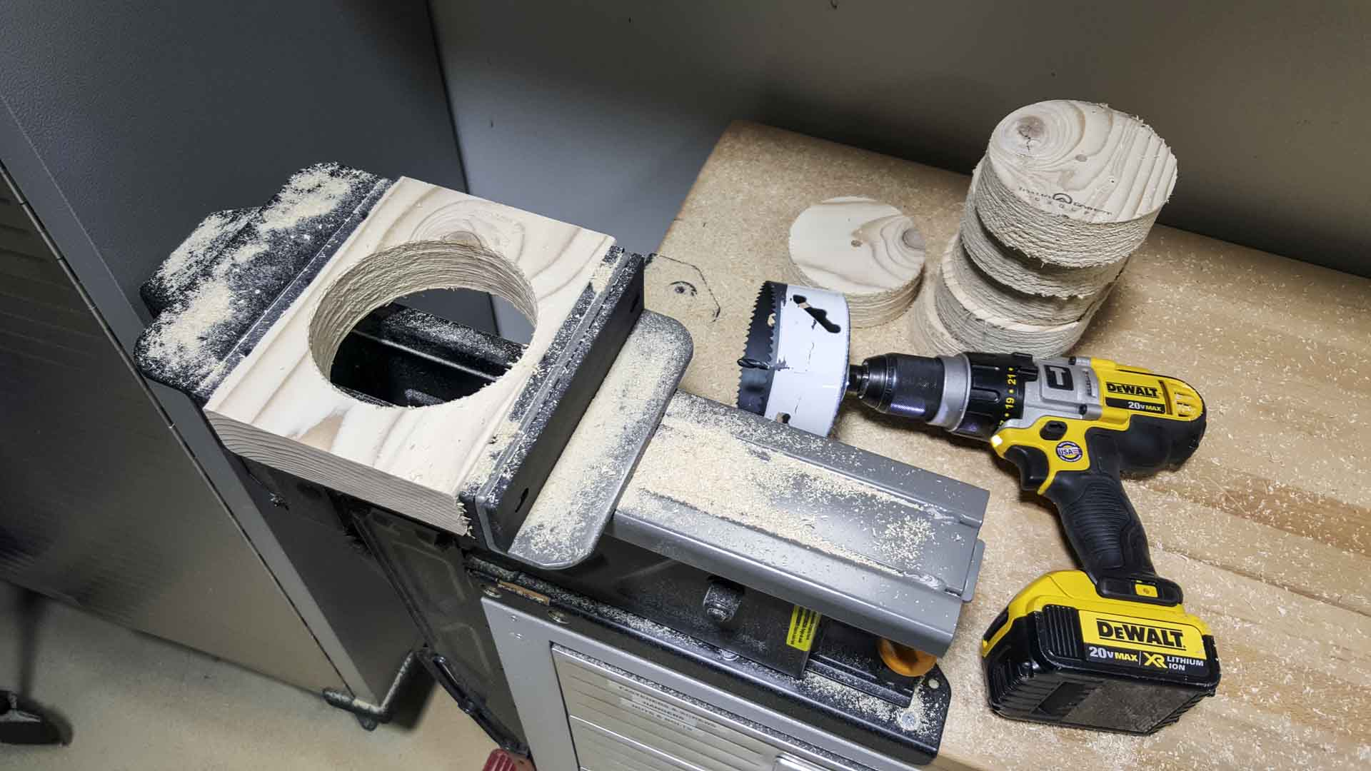 Dust Collector Wall Mounts Hole Saw