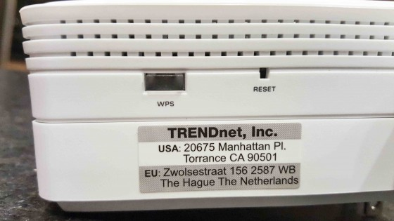 TRENDnet AC1200 WiFi Access Point WPS Button